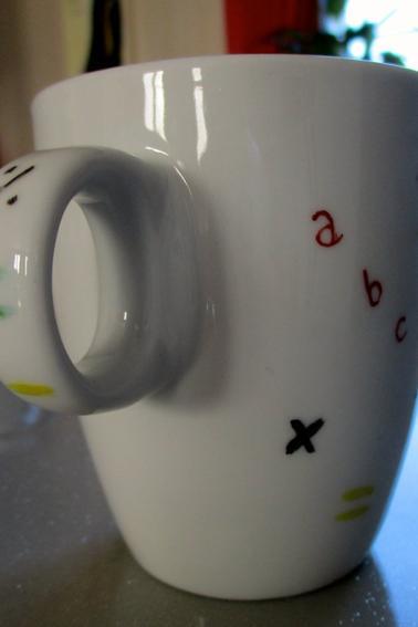 Mug pour ma maîtresse (V) de la part de Charlotte