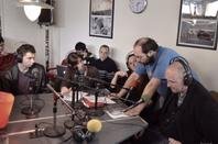 association Micro Sillons à radio Booster 31 inviter sur direct au locaux partagé avec radio FMR & photo(s) du Groland Toulouse