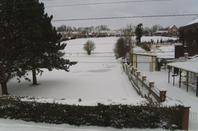 Neige le 12-03-2013 Petite vue de ma chambre et de ma cours