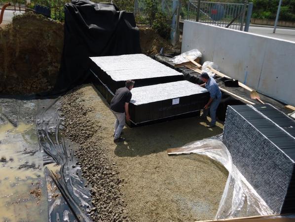bassin enterre