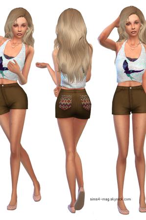 Look sims 4 - Belle au naturel