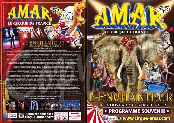 le programme souvenir 2017 du cirque AMAR est en vente !!!!