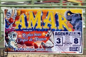 le cirque AMAR est à agen ce week end !!!!