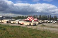 le cirque CHARLES KNIE à oldenburg avec son nouveau chapiteau !!!!