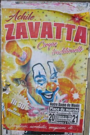 le cirque ACHILLE ZAVATTA de passage en mai à notre dame de monts !!!!