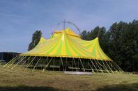 premier montage du nouveau chapiteau du cirque FRANCO-ITALIEN !!!!
