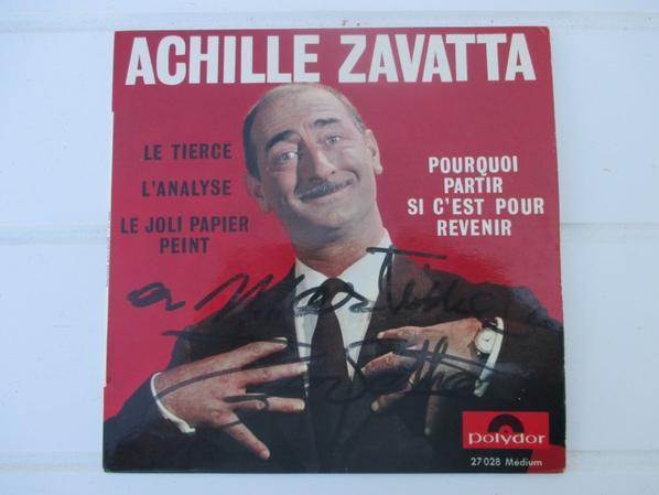 trouver dans une brocante deux 45 tours d ACHILLE ZAVATTA !!!