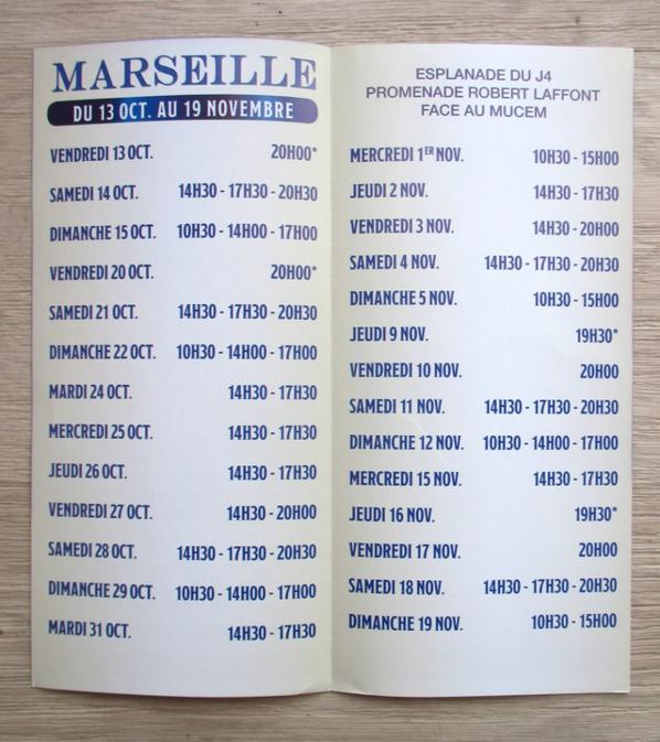 le flyer du cirque d'hiver BOUGLIONE à marseille !!!!