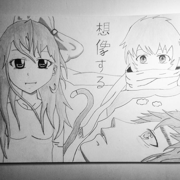 dessin pour le concours de Nekoninaritai