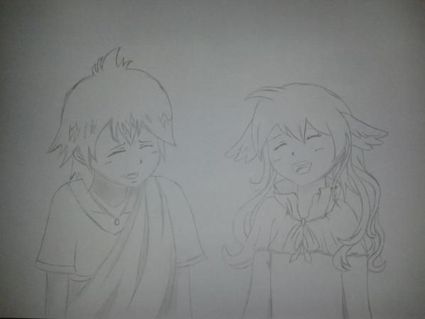 les 3/4 de mes dessins de Zeleph et Mavis pour mon Onii-chan adoré ♥