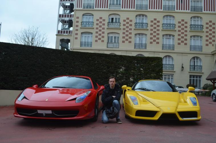 Enzo,458,SLS and SLR in Deauville