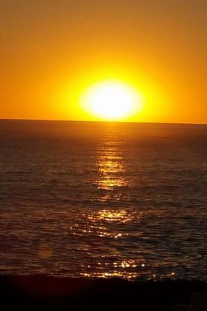 coucher de soleil au sable d'olones (cote chaume)