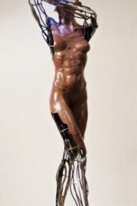 Fer et sculptures en terre cuite  par Anthens