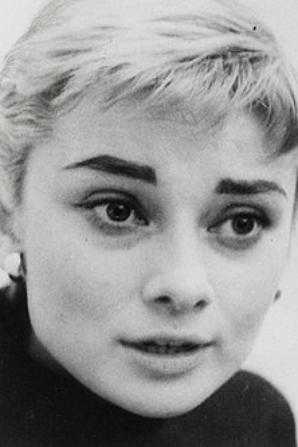 Audrey Hepburn lors de la production de Ondine en 1954