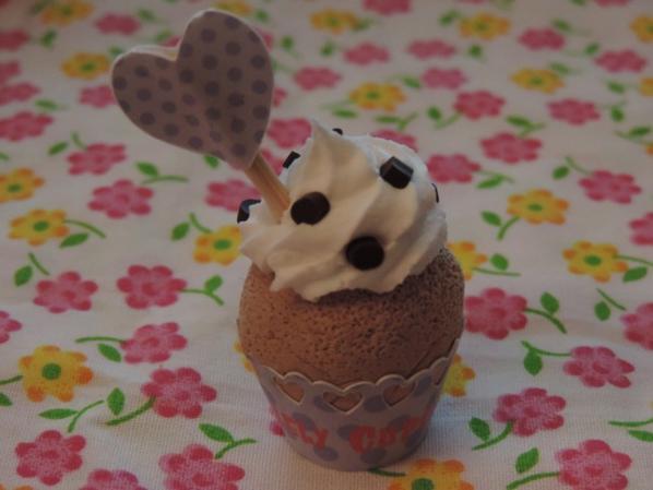 """Idées de création 1 : """"Mini caissette cupcake et cornet de glace en carton."""""""
