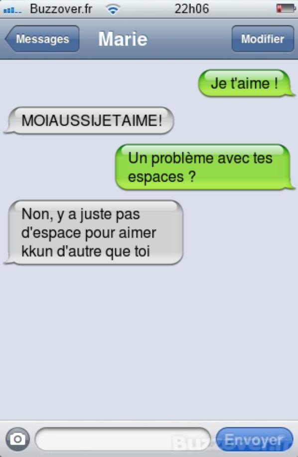 Des sms d'amour
