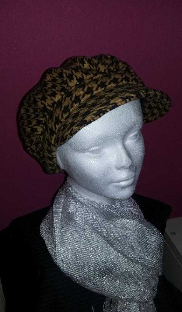 Casquette style gavroche hiver artisanal