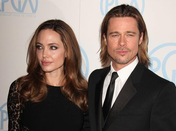 Angelina Jolie avec Brad Pitt