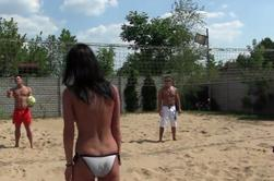 Match de volley entre potes....
