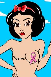 Princesses Disney a moitie denudees pour la bonne cause (sida)