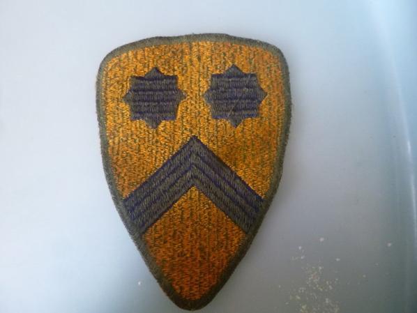 insigne de la 2 division de cavalery us et 6 paires de galons