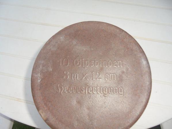 BOITE ET PLATRES DE MEDECIN ALLEMAND