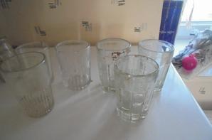 assortiment de verres du lot