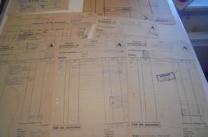 lot de papiers d un atelier de réparation allemand