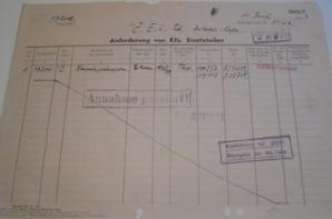 lot de papiers d un atelier de réparation allemand n2