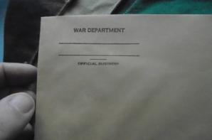 enveloppe du war department us