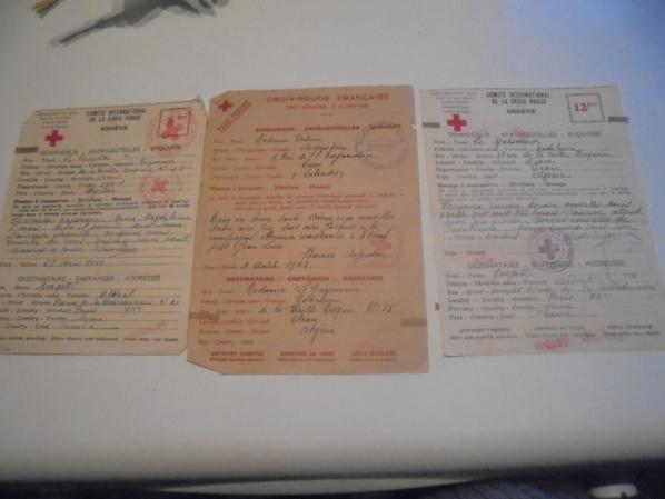 correspondance de la croix rouge pour prisonnier