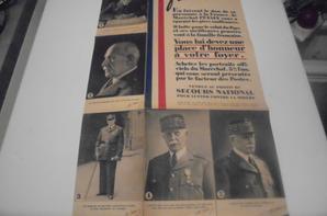 affiche pour la ventes des portrait du maréchal