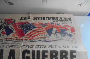 journal de la victoire en europe du 8 mai 1945