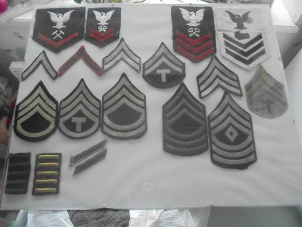 insignes de grade us ww2