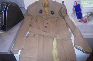 veste de service du 16e regiment de dragon