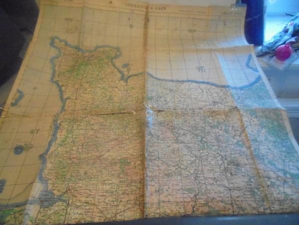 carte de la normandie pour l usaf et la raf