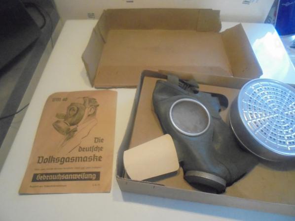 masque a gaz de la luftschutz complet