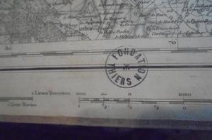 carte etat major du mans 1848