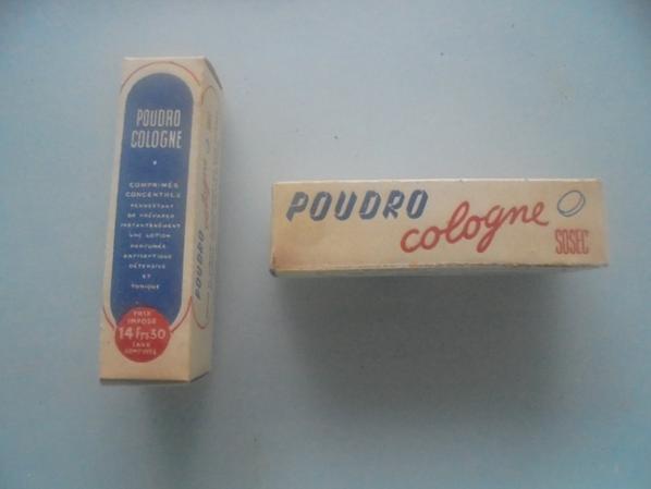 DEUX BOITES POUDRO COLOGNE