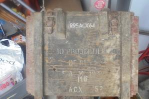 caisse obus de mortier 81 mm francais