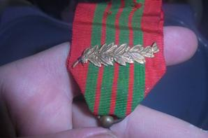 croix de guerre 1939/40 avec palme en bronze