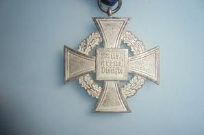 medaille de 25 ans de services civil allemande