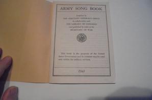 livre de chants de l us army