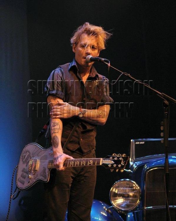 Johnny sur scène