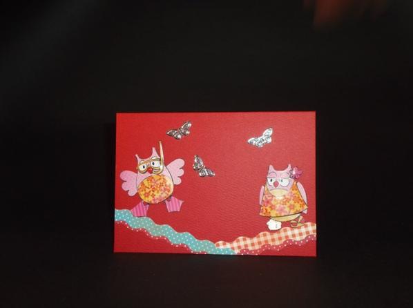 Carte chouettes