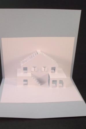 carte kirigami bâtiment