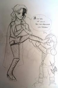 croquis sur nain et elfe