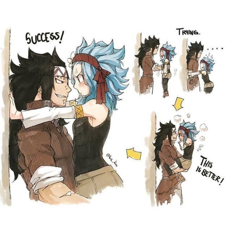 #FairyTail1 Gajeel et Levy