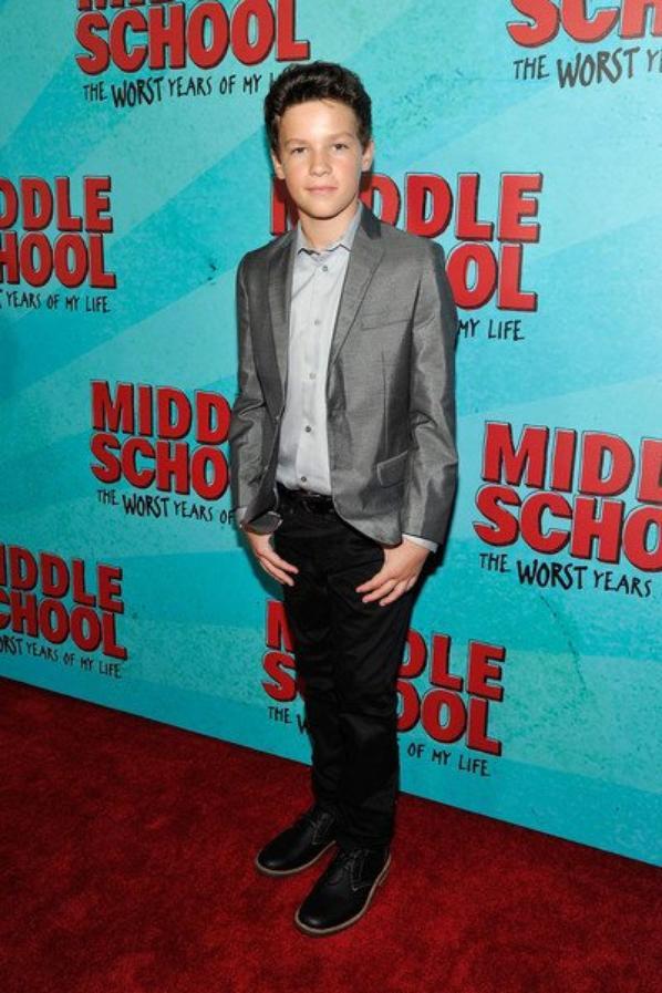 """Hayden Summerall - Première du film """"Middle School"""" 2016"""