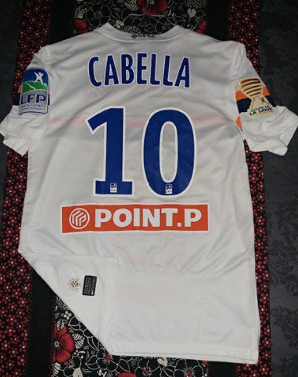 maillot porté par CABELLA face a Sochaux .